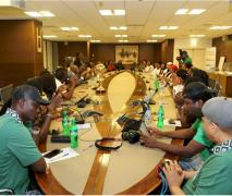 Cross-section of D'Tigress and Total staff