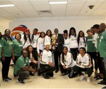 Group photograph of D'Tigress and coaches