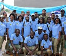 National Youth Service Corps members at the event