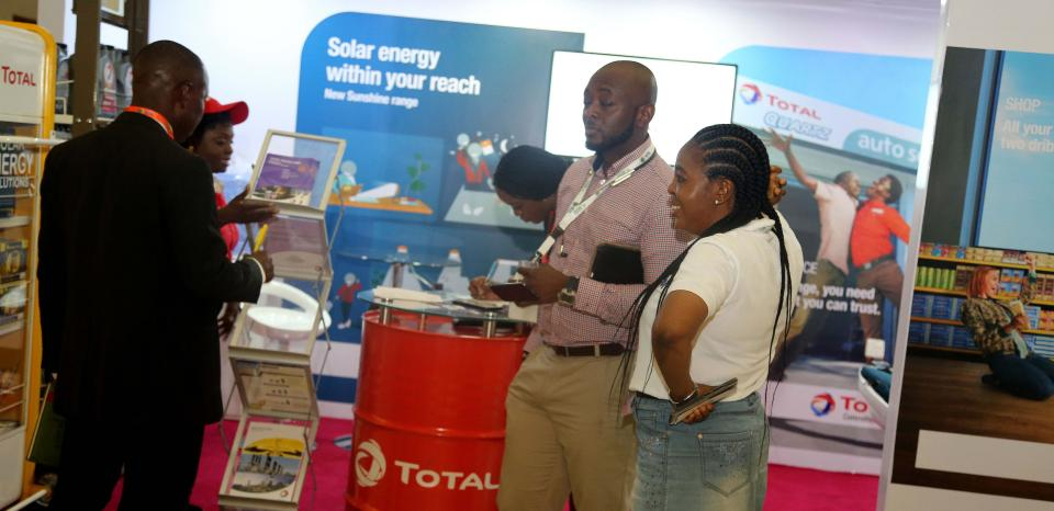 Guests at Total Booth