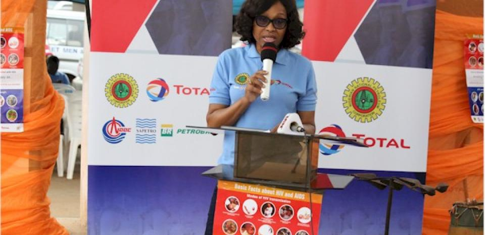 Mrs Olubunmi Popoola-Mordi reading the keynote address